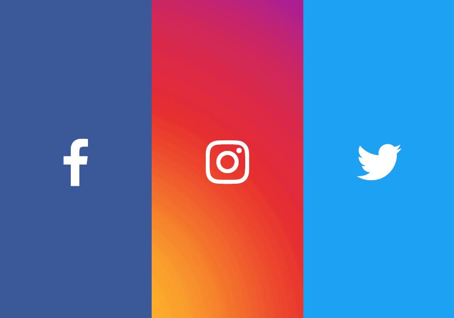 Twitter Facebook & Instagram