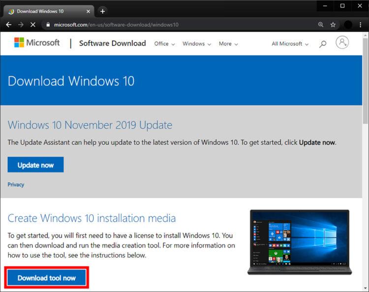 Create a Windows 10 Bootable USB
