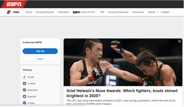 MMA Streaming Sites