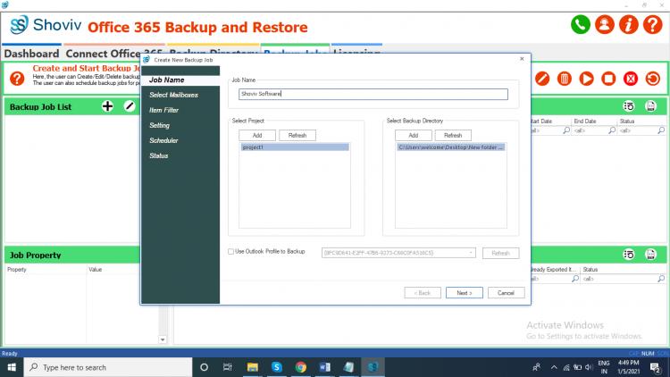 Backup Office 365 Emails