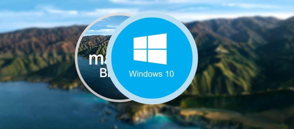 MacOS Big Sur vs Windows 10